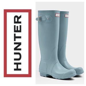 Hunter Tall Robin's Egg Blue Rubber Boots